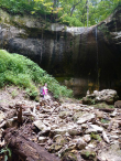 Feeling SO small at a cave in Wyalusing State Park